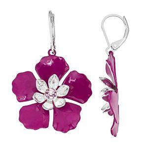 Dana Buchman Magenta Floral Drop Earrings