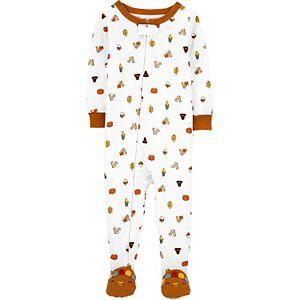 Baby Carter's Thanksgiving Zip Footie Pajamas
