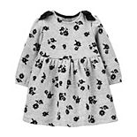 Baby Girl Carter's Floral Cozy Bow Dress