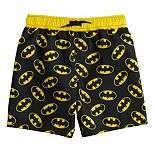 Toddler Boy DC Comics Batman Logo Swim Trunks