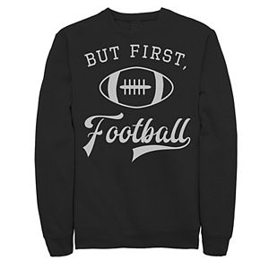 Men's But First Football Poster Graphic Fleece Pullover