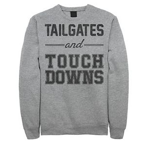 Men's Tailgates And Touchdowns Word Stack Graphic Fleece Pullover