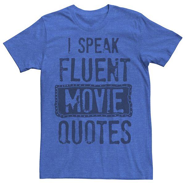 Men's Speak Movies Graphic Tee 5Rw7R