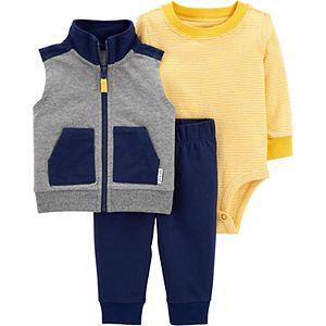 Baby Boy Carter's Striped Bodysuit, Vest & Pants Set