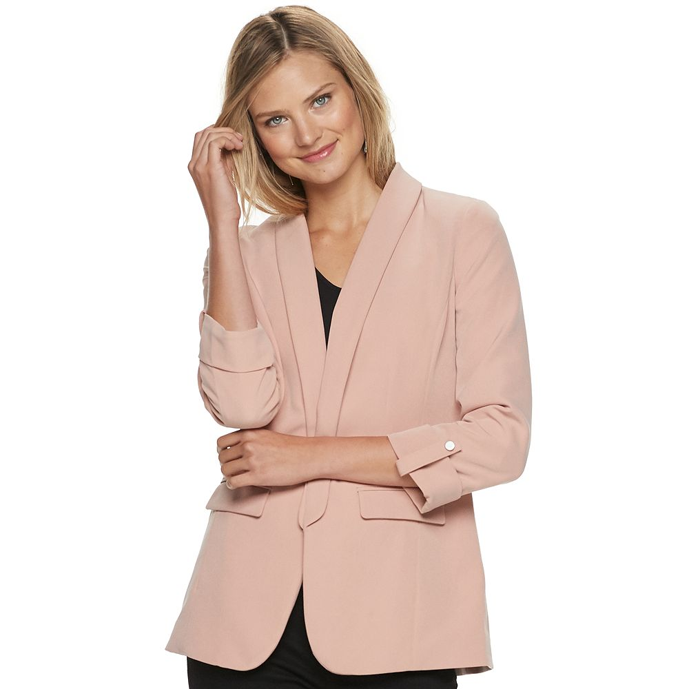 Women's Apt. 9® Open-Front Long Boyfriend Blazer