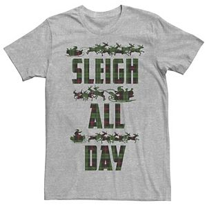 Men's 'Sleigh All Day' Flannel Silhouette Tee