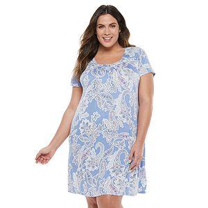Plus Size Croft & Barrow® Flutter Sleeve Short Nightgown