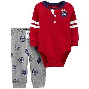 Baby Boy Carter's 2-Piece Varsity Bodysuit Pants Set