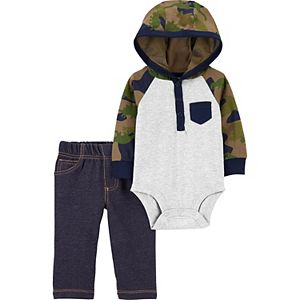 Baby Carter's 2-Piece Hooded Bodysuit & Pant Set