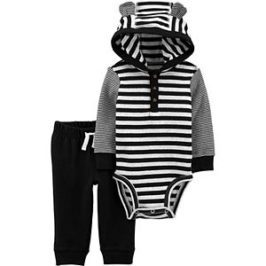 Baby Boy Carter's 2-Piece Striped Hooded Bodysuit & Pants Set