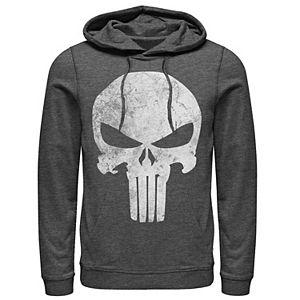 Men's Marvel Punisher Skull Symbol Distressed Hoodie