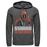Men's Marvel Deadpool SSHHHH No One Cares Whisper Hoodie