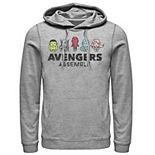 Men's Marvel Avengers Assemble Cartoon Chest Logo Hoodie