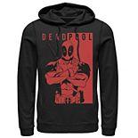 Men's Marvel Deadpool Two-Toned Portrait Hoodie