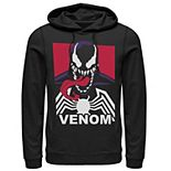 Men's Marvel Venom Tongue Out Comic Logo Hoodie