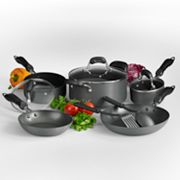 Basic Essentials Milan 10-pc. Hard-Anodized Cookware Set