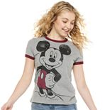 Juniors' Disney Mickey Mouse Ringer Graphic Tee