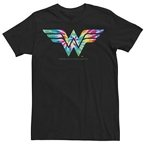 Men's DC Comics Wonder Woman Tie Dye Logo Tee