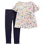 Baby Girl Carter's Floral Top & Jeggings Set