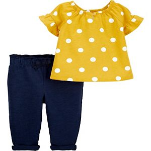 Baby Girl Carter's Polka Dot Top & Pants Set