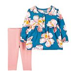 Baby Girl Carter's 2-Piece Floral Top & Legging Set
