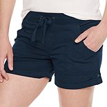 Women's SONOMA Goods for Life® Elastic-Waist Roll-Tab Utility Shorts