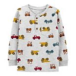 Baby Boy Carter's Construction Trucks Henley Top