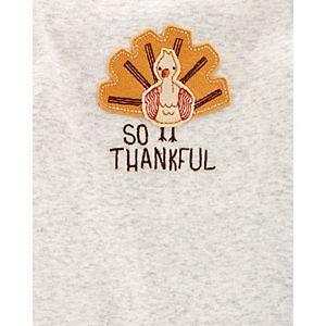 Baby Little Planet Thanksgiving Certified Organic Cotton Bodysuit & Pants Set