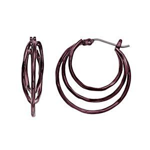 Simply Vera Vera Wang Metallic Triple Hoop Earrings