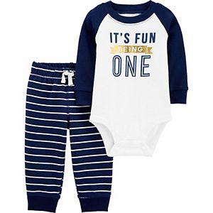 Baby Carter's 2-Piece First Birthday Bodysuit Pants Set