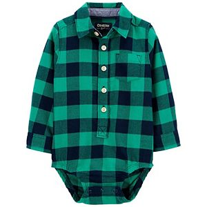 Baby Boy OshKosh B'gosh® Buffalo Check Flannel Bodysuit