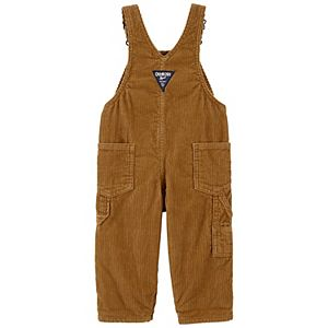 Baby Boy OshKosh B'gosh® Flannel-Lined Denim Overalls