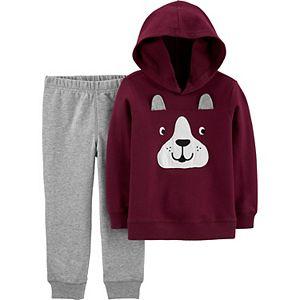 Baby Boy Carter's 2-Piece Dog Hoodie & Pants Set