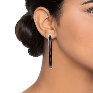 Simply Vera Vera Wang Thick Hoop Earrings