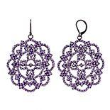 Simply Vera Vera Wang Purple Leverback Lace Drop Earrings