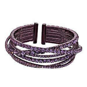 Simply Vera Vera Wang Rhinestone Layered Cuff Bracelet