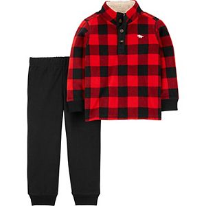 Baby Boy Carter's Buffalo Check Pullover & Jogger Pants Set