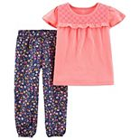 Toddler Girl Carter's Jersey Tee & Pull-On Pant Set