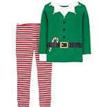 Baby Carter's 2-Piece Christmas Elf Snug Fit Cotton Pajamas