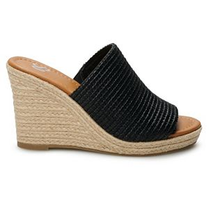 SO® Exciting Open Toe Women's Wedge Sandals