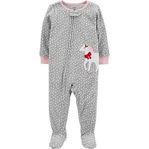 Toddler Girl Carter's 1-Piece Unicorn Fleece Pajamas