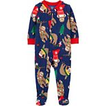 Toddler Boy Carter's 1-Piece Christmas Sloth Pajamas