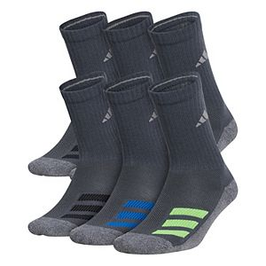 Boy's adidas Cushioned Angle Stripe 6-Pack Crew Socks