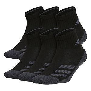 Boy's adidas Cushioned Angle Stripe 6-Pack Quarter Socks
