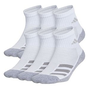 Boy's 4-20 adidas Cushioned Angle Stripe 6-Pack Quarter Socks