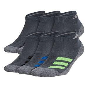 Boy's adidas Cushioned Angle Stripe 6-Pack Low Cut Socks