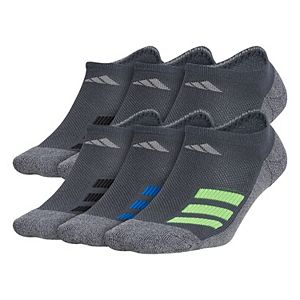 Boy's adidas Cushioned Angle Stripe 6-Pack No Show Socks