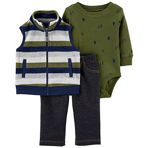 Baby Boy Carter's 3-Piece Striped Vest, Bodysuit & Pants Set