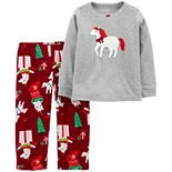 Toddler Carter's 2-Piece Unicorn Christmas Fleece Pajamas