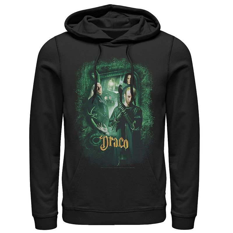 Men's Harry Potter And The Chamber Of Secrets Draco Portrait Hoodie, Size: XL, Black
